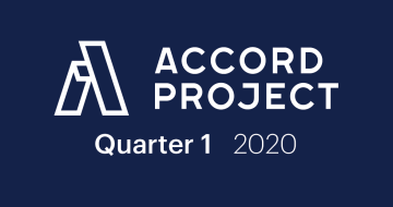 Accord Project Quarter 1, 2020